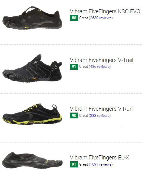 vibram fivefingers competition running shoes