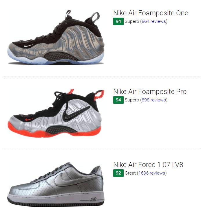 Silver Nike Sneakers