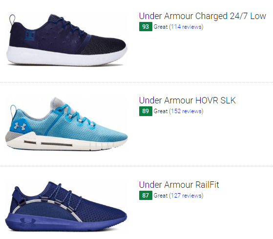 Blue Under Armour Sneakers