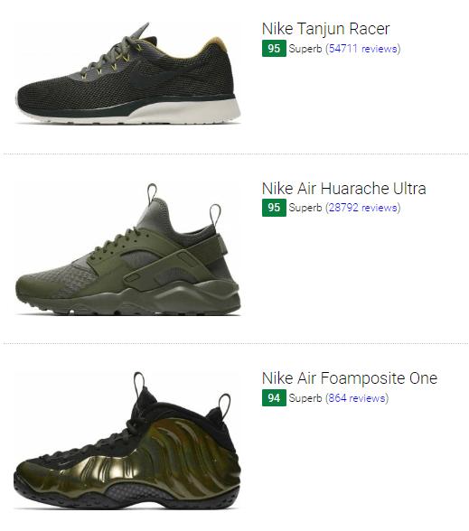 Green Nike Sneakers