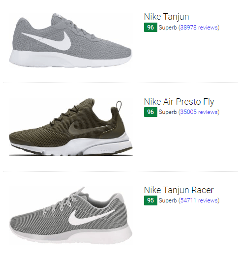 nike shoe models list