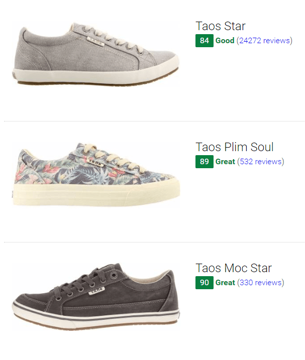 Best Taos Sneakers