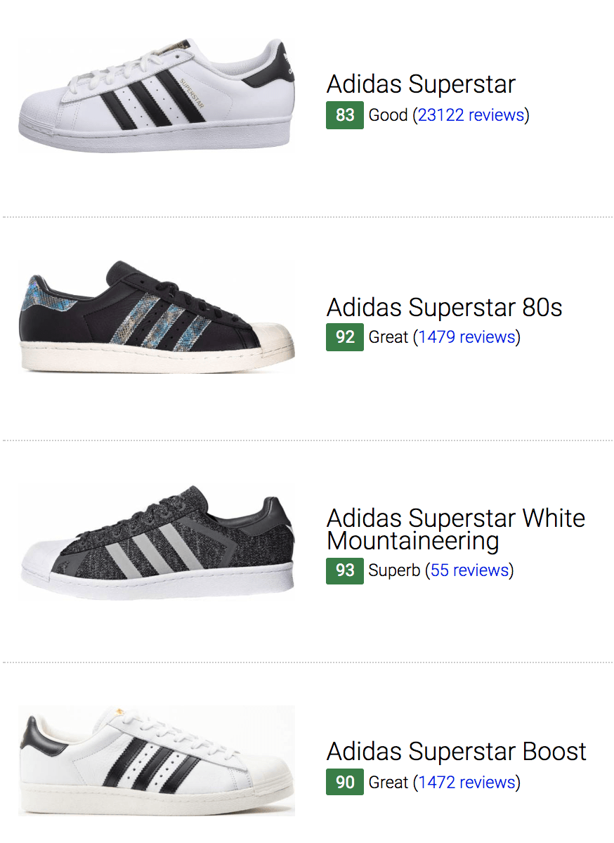 best adidas superstar sneakers