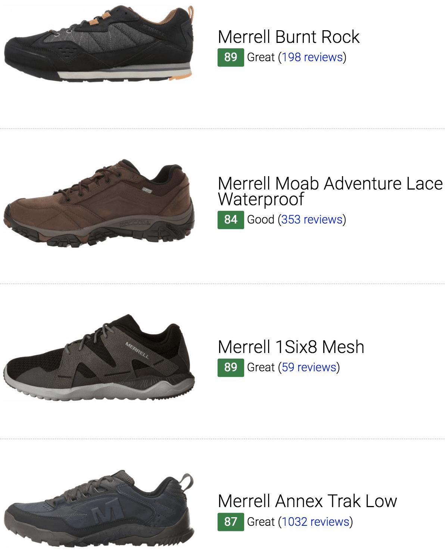 best merrell sneakers