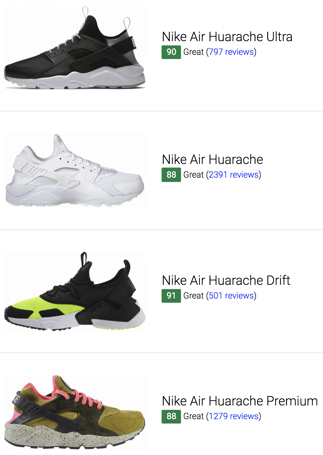 Best Nike Air Huarache Sneakers