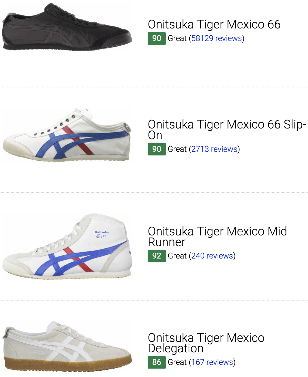 new style c1f95 33131 12 Best Onitsuka Tiger Mexico Sneakers (September 2019 ...