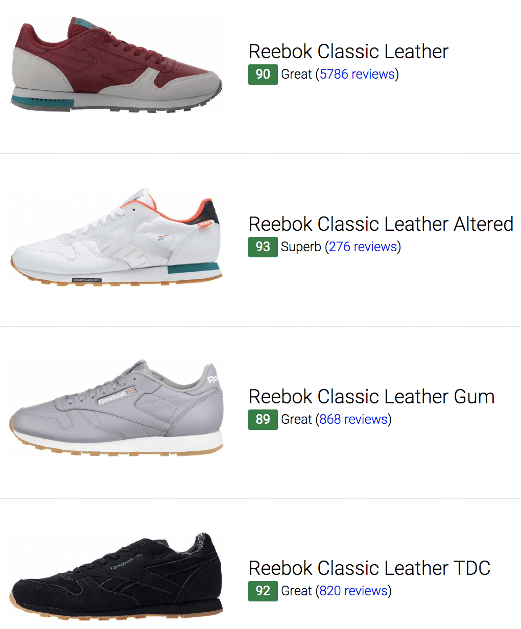 8e7424d1 52 Best Reebok Classic Leather Sneakers (August 2019) | RunRepeat