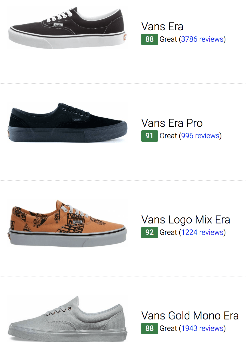 best vans era sneakers