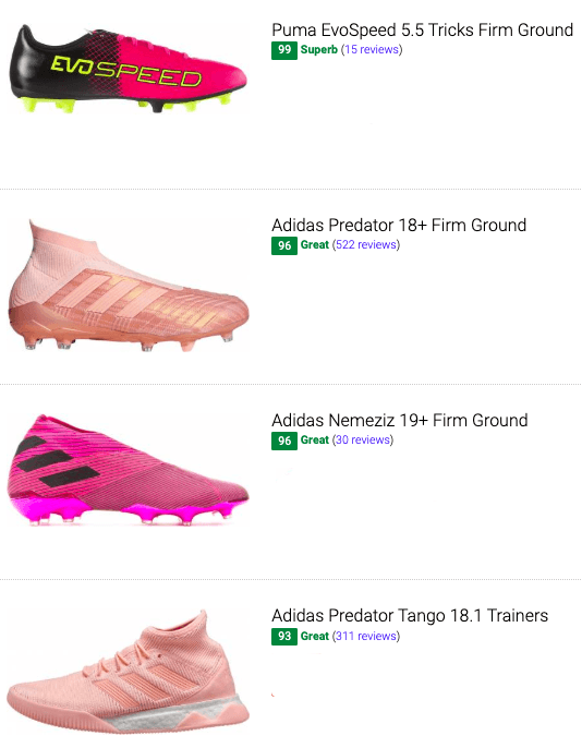 best pink soccer cleats