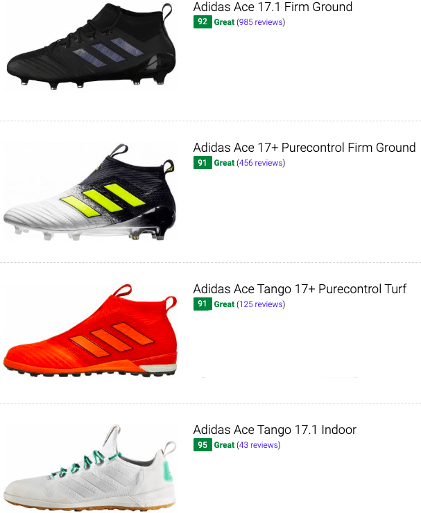 best adidas ace soccer cleats