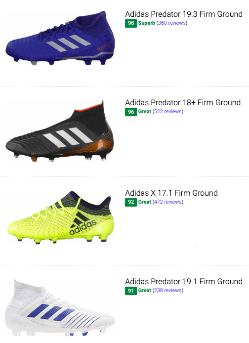 best adidas firm ground soccer cleats