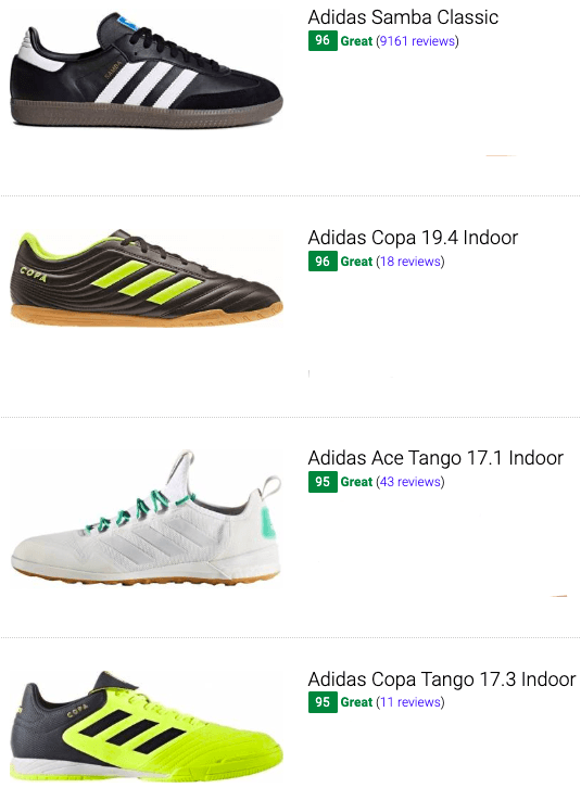 best adidas indoor soccer cleats