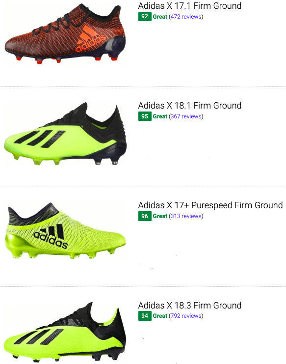 best adidas x soccer cleats