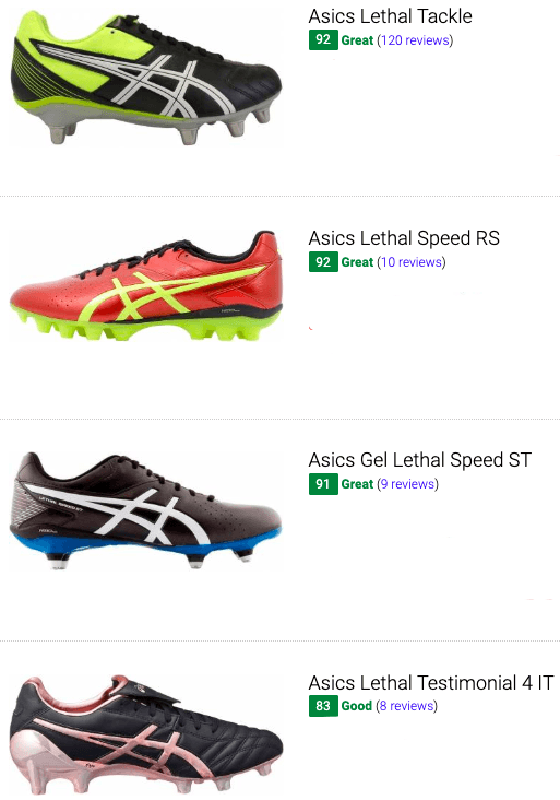 best asics soccer cleats