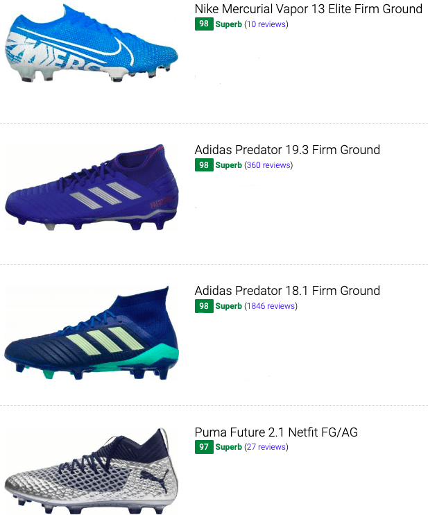 best blue soccer cleats
