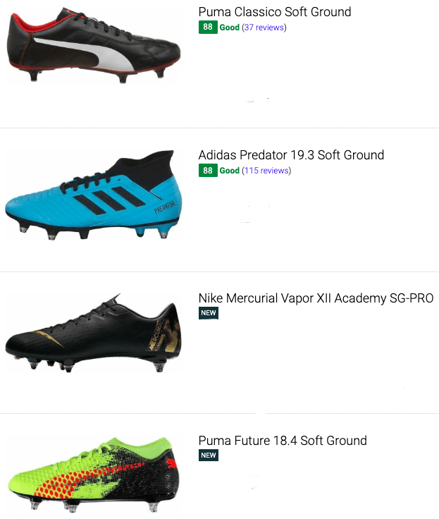 best cheap soft ground soccer cleats