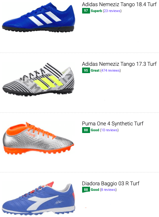 best cheap turf soccer cleats