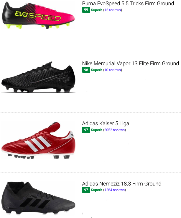 best low top firm ground soccer cleats