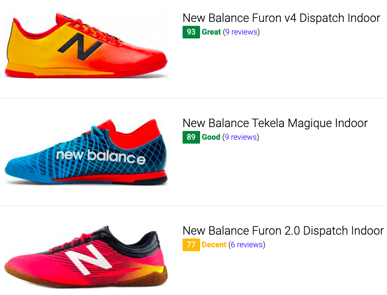 best new balance indoor soccer cleats
