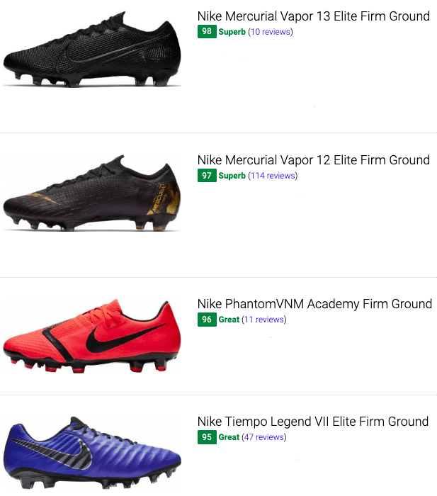 best nike low top soccer cleats