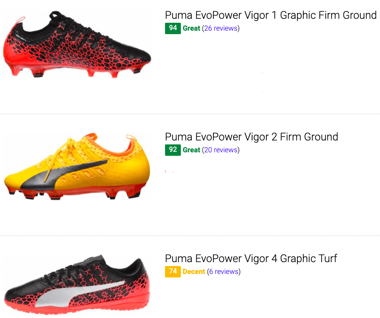 best puma evopower soccer cleats