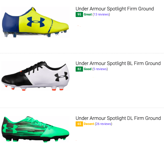 best under armour firm ground soccer cleats