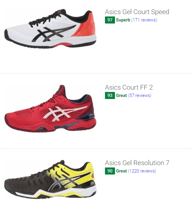 best Asics tennis shoes