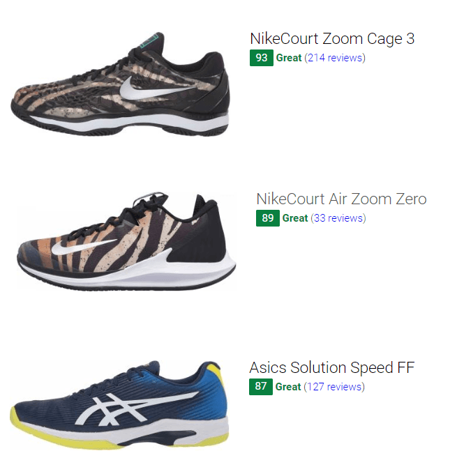 best hard court tennis shoes