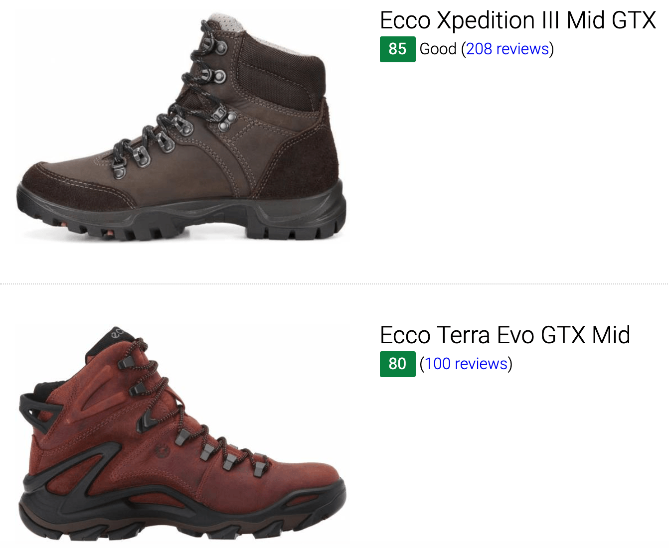 ecco hiking boots