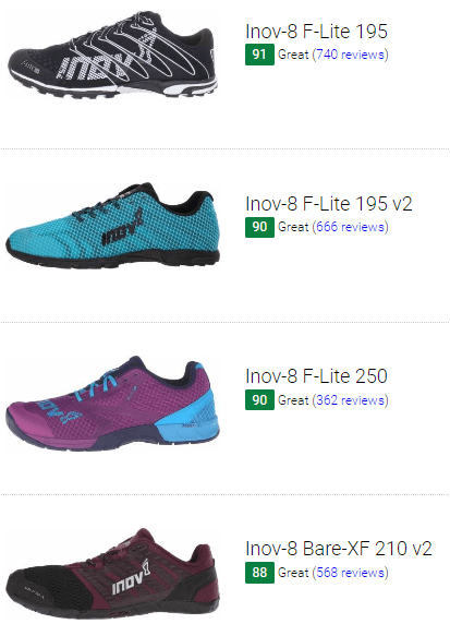 best inov-8 crossfit shoes