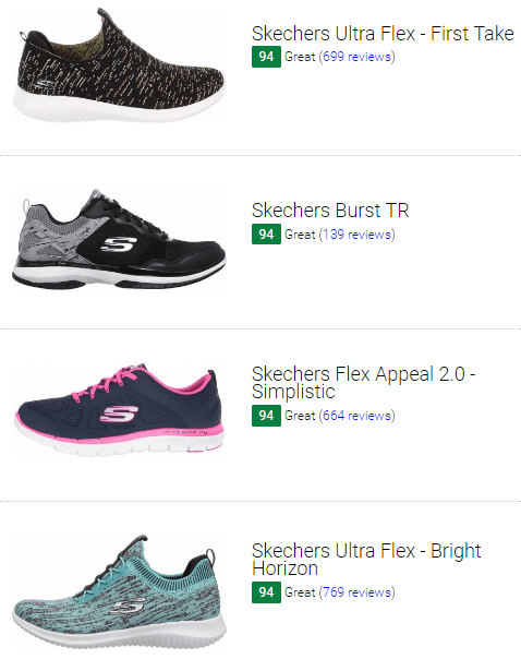 best skechers workout shoes