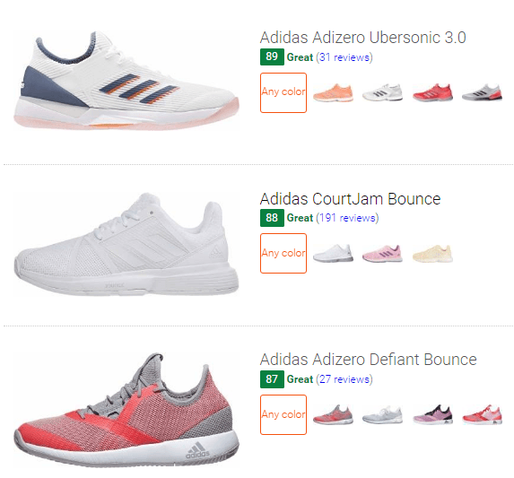 best Adidas tennis shoes