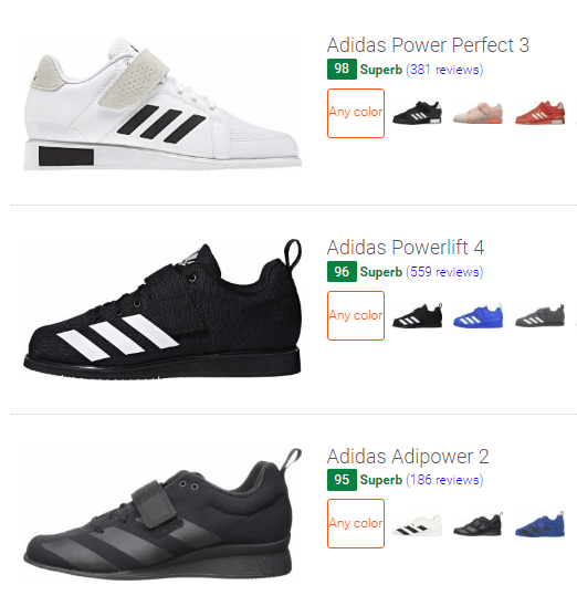 best Adidas training shoes