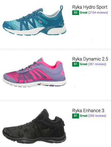 best ryka training shoes