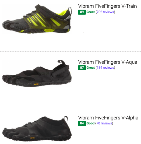 best vibramfingers training shoes
