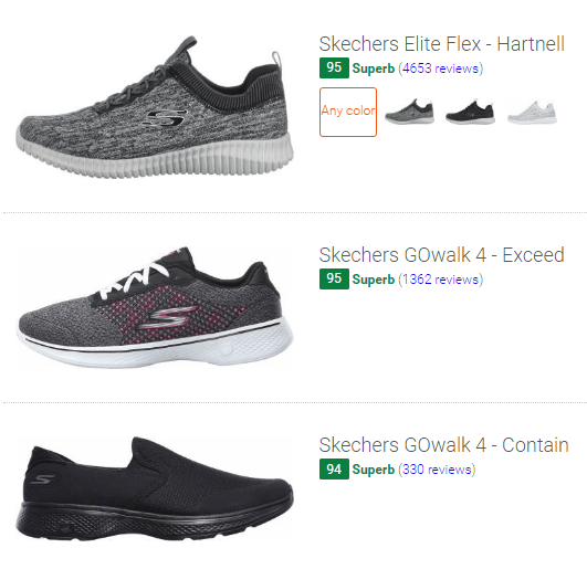 skechers walking shoes with memory foam