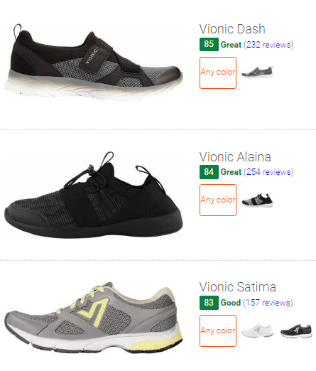 best Vionic walking shoes